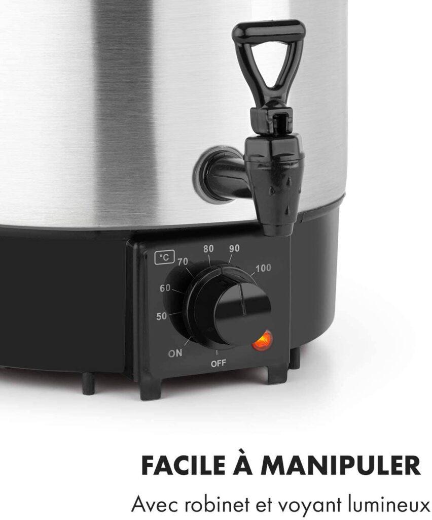 Caractéristiques techniques de l'autocuiseur électrique Klarstein Biggie Eco