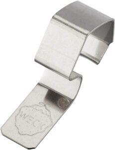 Weck Lot de 8 Clips, métal, Inoxydable