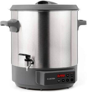 KLARSTEIN Lady Marmalade - Pasteurisateur, Distributeur pour boissons chaudes, 27 L, 1800 Watt, 30-100 °C, Minuterie, Fonction réchauffage, Protection contre la surchauffe
