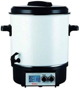 Stérilisateur de bocaux électrique avec écran lcd robinet et minuteur 27l 1800w